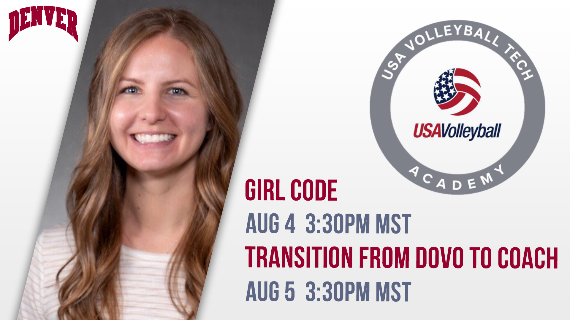 Aschenbrenner To Speak On Two Panels At Usa Volleyball Tech Academy University Of Denver Athletics